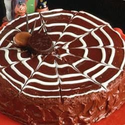 Chocolate Spider Web Cake Recipe