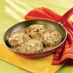 recipe: mushroom smothered beef burgers [2]