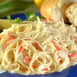 Angel Hair Pasta and Crab With Alfredo Sauce Recipe