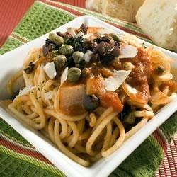 Pam's Pasta Puttanesca Recipe