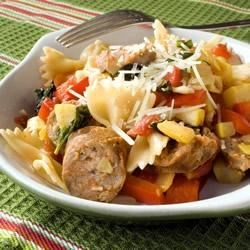 Bow Tie Pasta with Sausage and Veggies Recipe