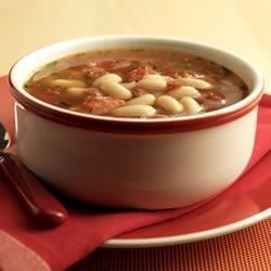 BUSH'S(R) Smoky White Bean and Tomato Soup Recipe