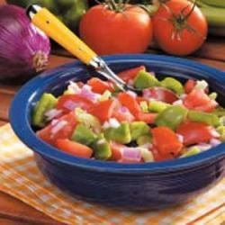 Photo of Green Pepper Tomato Salad by Lili Hill