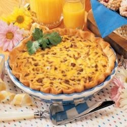 Photo of Beef and Cheddar Quiche by Jeanne  Lee