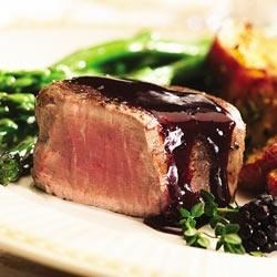 Peppered Steak with Blackberry Sauce Recipe