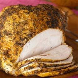 Grilled Herb Rubbed Turkey Breast with Lemon Tarragon Sauce Recipe ...