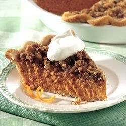 Streusel-Topped Pumpkin Pie Recipe