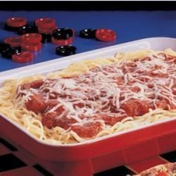 Photo of Three-Cheese Spaghetti Bake by Laura  Linder