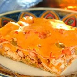 Layered Chicken Enchilada Casserole Recipe