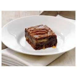 Photo of Caramel-Pecan Brownies by BAKER'S Chocolate