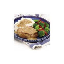 Photo of Pork Chops and Mustard Onion Gravy by Campbell's Kitchen