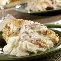 Baked Chicken with Ham Gravy Recipe