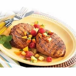 Spice-Rubbed Pork Chops with Summertime Salsa Recipe