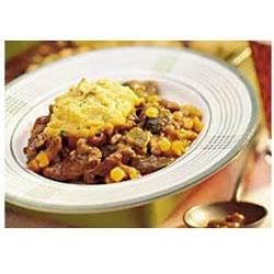 Beef and Chili Stew with Cornbread Dumplings
