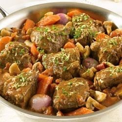 Swanson(R) Braised Beef with Shallots and Mushrooms Recipe