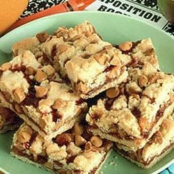 Peanut Butter Chips and Jelly Bars Recipe