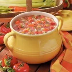 Photo of White Bean 'N' Barley Soup by Stephanie  Land
