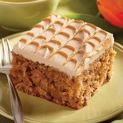 Peanutty Pineapple Carrot Cake with Peanut Butter Frosting Recipe