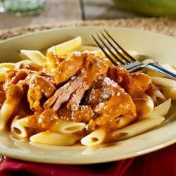 Creamy Blush Sauce with Turkey and Penne Recipe