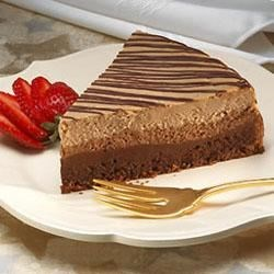 Hershey®'s Special Dark® Chocolate Layered Cheesecake