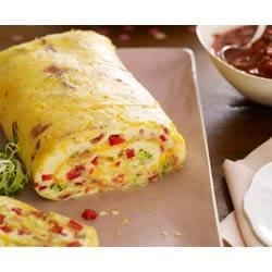 Bacon Omelette Roll with Salsa Recipe