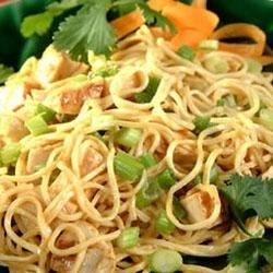 Angel Hair Pasta and Chicken with Oriental Dressing Recipe