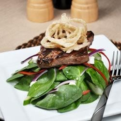 Spinach 'n' Steak Salad with Chipotle Honey Mustard Recipe