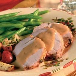 Photo of Herbed Pork Roast and Creamy Mushroom Gravy by Campbell's Kitchen