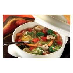 Photo of Chunky Chicken Vegetable Soup by Minute® Rice