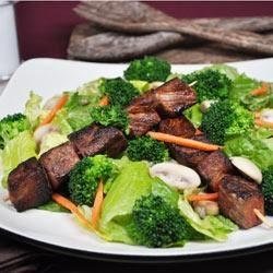 Skewered Steak and Vegetable Salad Recipe