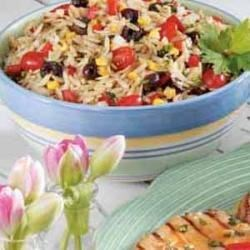 Photo of Herb Vegetable Orzo Salad by Taste of Home Test Kitchen