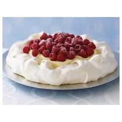 Creamy Vanilla Raspberry Pavlova Recipe