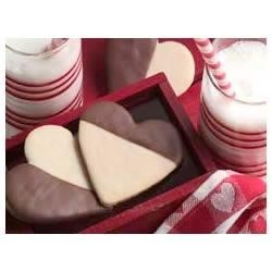 Photo of Black & White Heart Cookies by BAKER'S Chocolate
