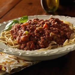Bolognese Spaghetti Sauce with Sausage (Ground Beef) Recipe