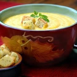 Hidden Valley(R) Harvest Butternut Squash Soup with Ranch Croutons Recipe