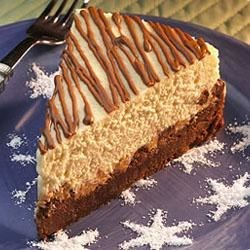 Reese's(R) Brownie Bottomed Peanut Butter and Milk Chocolate Chip Cheesecake Recipe