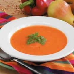 Photo of Creamy Red Pepper Soup by Connie  Summers