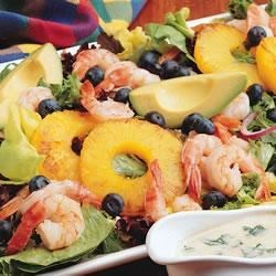 Hot Shrimp Fruit Salad Recipe