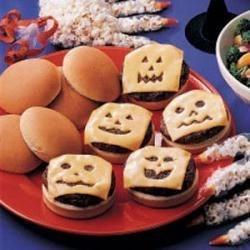 Photo of Jack-O-Lantern Burgers by Vicki  Schlechter
