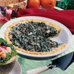 Photo of Rice-Crust Spinach Quiche by Laurie  Zenner