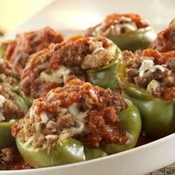 Prego(R) Sausage-Stuffed Green Peppers Recipe