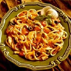 Linguine in Spicy Red Clam Sauce Recipe