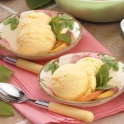 Photo of Peach Frozen Yogurt by Stephanie  Nohr