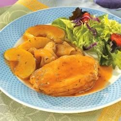 Golden Mushroom Pork & Apples Recipe