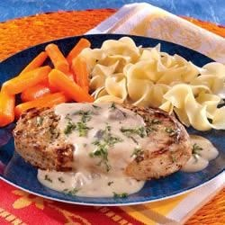 Photo of Creamy Mustard Pork Chops by Campbell's Kitchen