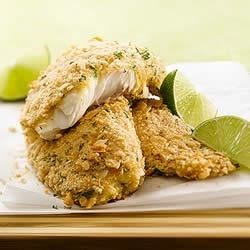 KELLOGG'S* RICE KRISPIES* Lime Baked Fish Recipe