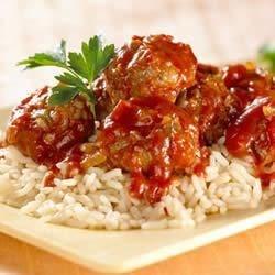 KELLOGG'S* RICE KRISPIES* Tangy Holiday Meatballs Recipe