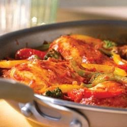 Italian-Style Chicken and Pepper Saute
