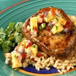 Pork Chops with Pineapple Salsa Recipe