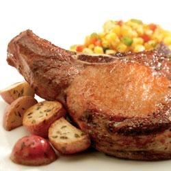 Grilled Pork Chops and Onions Recipe